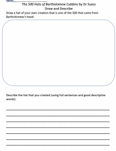 photo of draw anbd describe worksheet
